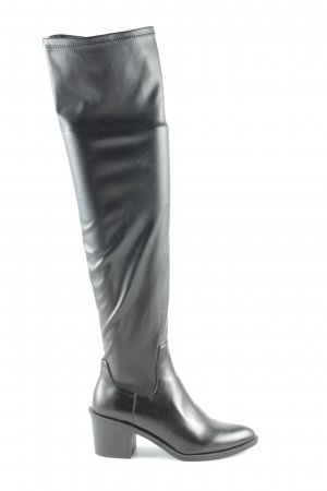 Zara Trafaluc Absatz Stiefel schwarz Business-Look