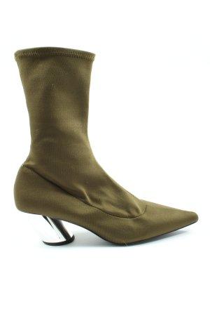 Zara Trafaluc Absatz Stiefel khaki Casual-Look