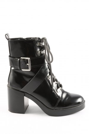 Zara Trafaluc Absatz Stiefel schwarz Casual-Look