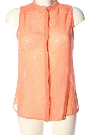 Zara Trafaluc ärmellose Bluse pink-creme Punktemuster Casual-Look