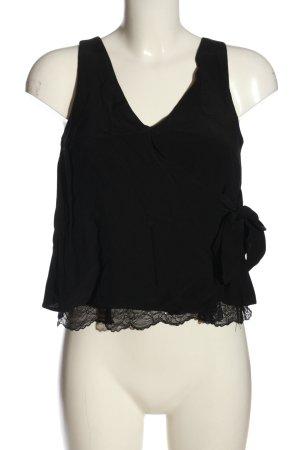 Zara Trafaluc Blouse topje zwart casual uitstraling