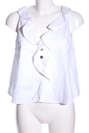 Zara Trafaluc ärmellose Bluse weiß Casual-Look