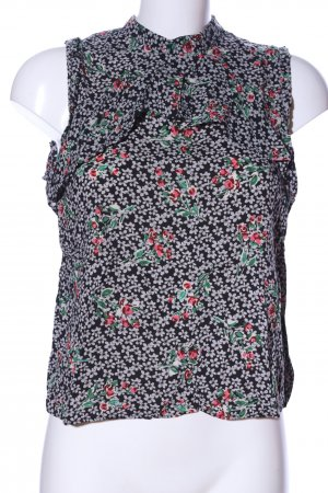 Zara Trafaluc ärmellose Bluse Blumenmuster Casual-Look