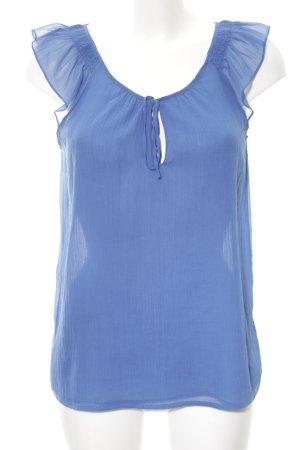 Zara Trafaluc ärmellose Bluse blau Casual-Look