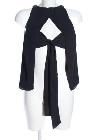 Zara Trafaluc ärmellose Bluse schwarz Elegant