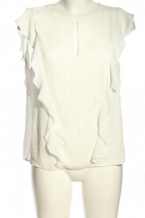 Zara Trafaluc ärmellose Bluse creme Casual-Look