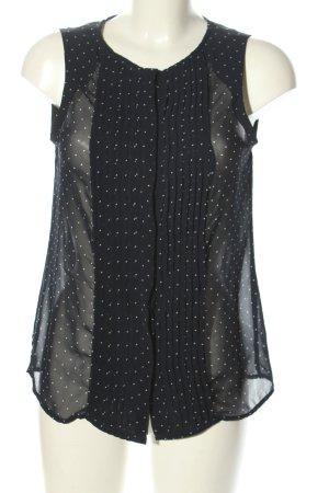 Zara Trafaluc ärmellose Bluse schwarz-weiß Allover-Druck Casual-Look