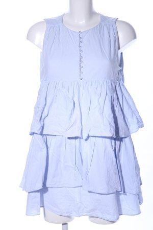 Zara Trafaluc ärmellose Bluse blau Elegant