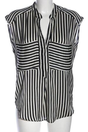 Zara Trafaluc ärmellose Bluse schwarz-weiß Streifenmuster Business-Look
