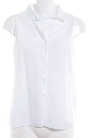 Zara Trafaluc ärmellose Bluse weiß abstraktes Muster Casual-Look