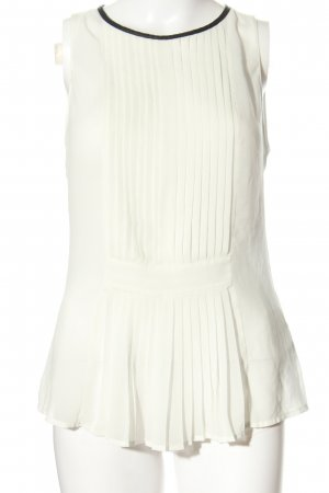 Zara Trafaluc Blusa senza maniche bianco stile professionale