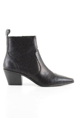 Zara Trafaluc Ankle Boots schwarz Animalmuster Casual-Look