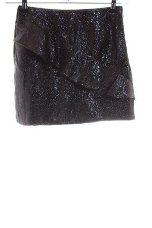 Zara Trafaluc Asymmetrie-Rock schwarz meliert Elegant