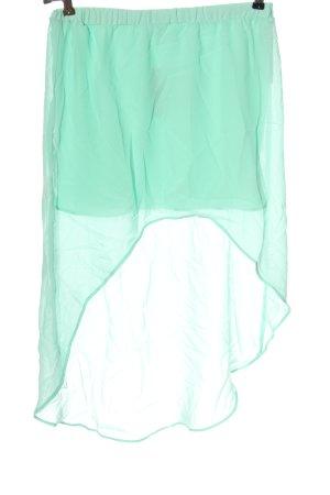 Zara Trafaluc Asymetryczna spódniczka turkusowy Elegancki