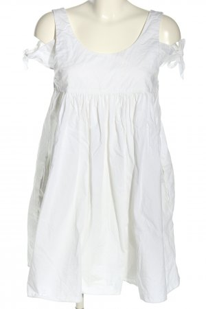 Zara Trafaluc Babydoll Dress white casual look