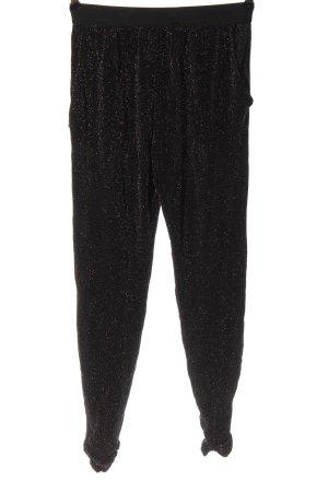 Zara Trafaluc Baggy Pants black-silver-colored elegant
