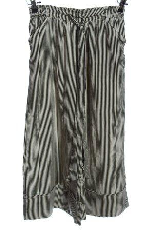 Zara Trafaluc Pantalón abombado negro-blanco puro estampado a rayas look casual