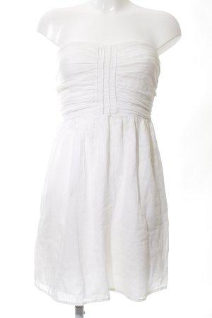 Zara Trafaluc Sukienka z dekoltem typu bandeau biały W stylu casual
