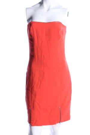Zara Trafaluc Vestido bandeau rojo elegante