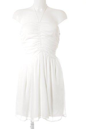 Zara Trafaluc Bandeaukleid weiß Elegant