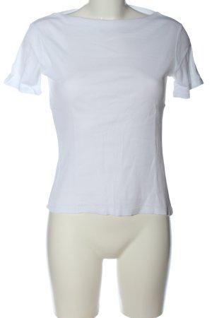 Zara Trafaluc Basic-Shirt weiß Casual-Look