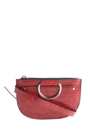 Zara Trafaluc Buiktas rood dierenprint zakelijke stijl