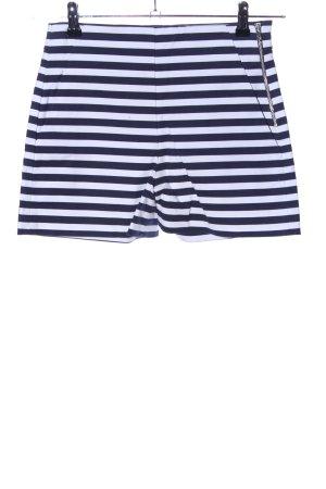 Zara Trafaluc Bermuda bianco-blu motivo a righe stile casual