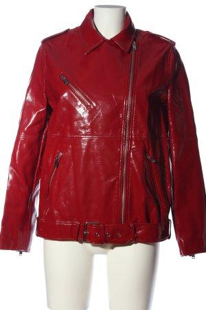 Zara Trafaluc Bikerjack rood casual uitstraling