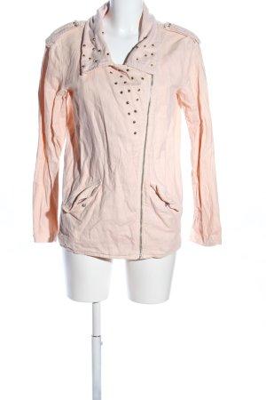 Zara Trafaluc Biker Jacket cream casual look