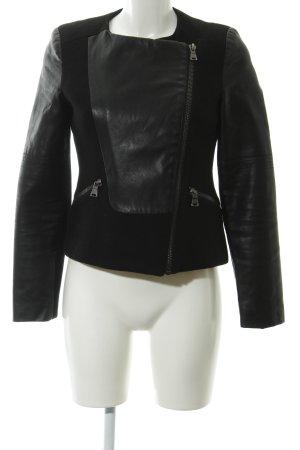 Zara Trafaluc Bikerjacke schwarz Lederelemente