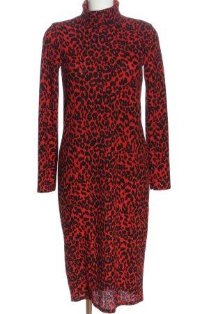 Zara Trafaluc Pencil Dress red-black casual look