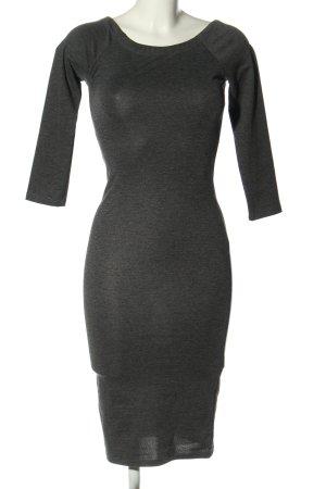 Zara Trafaluc Falda estilo lápiz gris claro moteado look casual