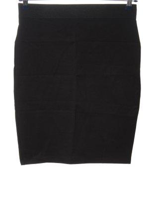 Zara Trafaluc Bleistiftrock schwarz Streifenmuster Casual-Look