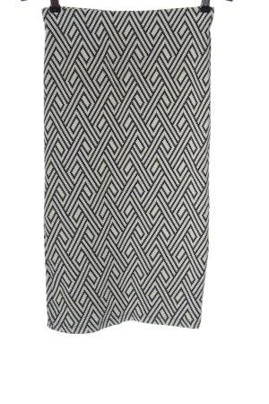 Zara Trafaluc Bleistiftrock schwarz-weiß grafisches Muster Casual-Look