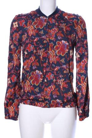 Zara Trafaluc Blouson blu-rosso stampa integrale stile casual