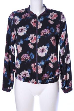 Zara Trafaluc Blouson blu-rosa stampa integrale stile casual