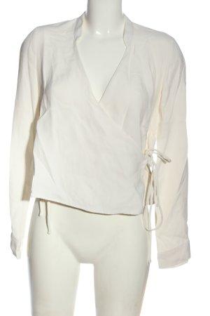Zara Trafaluc Chaqueta tipo blusa blanco look casual