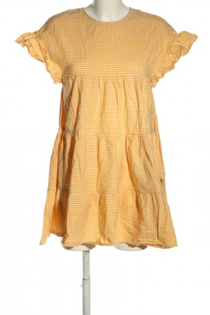 Zara Trafaluc Blouse Dress light orange-white check pattern casual look