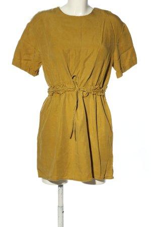 Zara Trafaluc Blusenkleid blassgelb Casual-Look