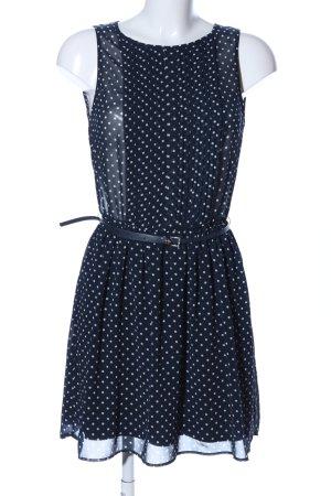 Zara Trafaluc Blusenkleid blau-weiß Punktemuster Casual-Look