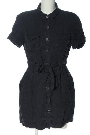 Zara Trafaluc Blusenkleid schwarz Casual-Look