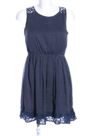 Zara Trafaluc Blusenkleid blau Punktemuster Elegant