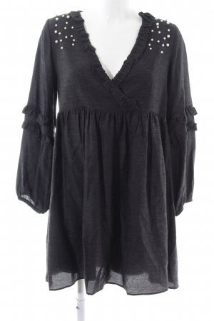 Zara Trafaluc Blusenkleid schwarz meliert Elegant