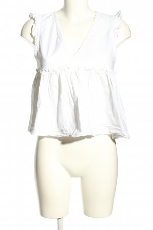 Zara Trafaluc Blouse Top white casual look