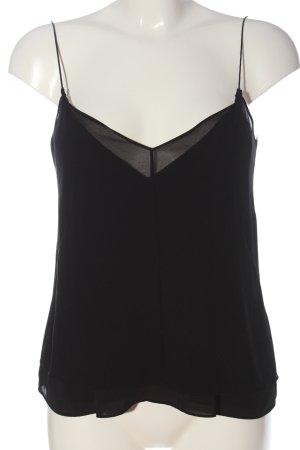Zara Trafaluc Blusentop schwarz Elegant