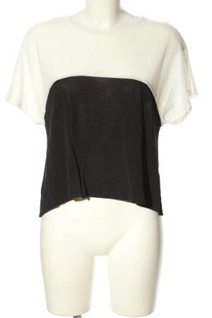 Zara Trafaluc Blouse topje zwart-wit casual uitstraling