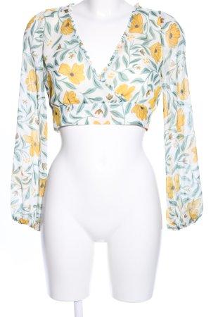 Zara Trafaluc Blusentop Blumenmuster Casual-Look