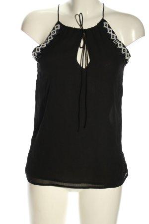 Zara Trafaluc Blouse topje zwart-wolwit casual uitstraling