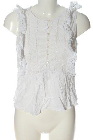 Zara Trafaluc Blouse topje wit casual uitstraling