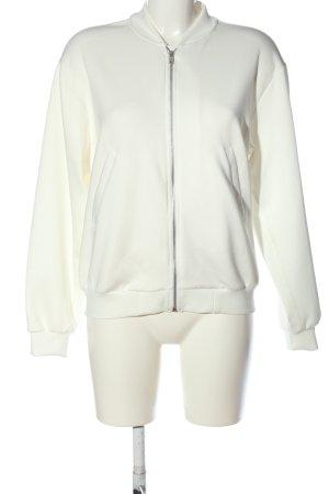 Zara Trafaluc Bomberka biały-czerwony Wydrukowane logo W stylu casual